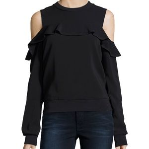 A.L.C. Lindsey Cold-Shoulder Ruffle Top - Size 2